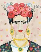 Homage to Frida Neutral Fine Art Print