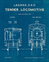 Locomotive Blueprint III Fine Art Print