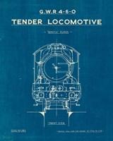 Locomotive Blueprint II Fine Art Print