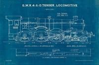 Locomotive Blueprint I Fine Art Print