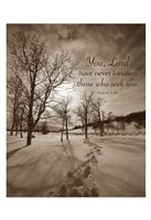 First Snow (You, Lord have never forsaken...) Fine Art Print