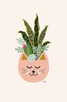 Cats and Plants Fine Art Print
