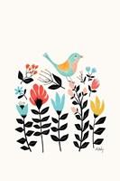 Folk Art Garden Fine Art Print