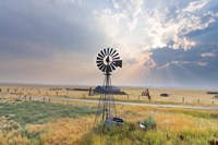 Windmill Sunset Fine Art Print