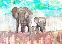Elephant Family Fine Art Print