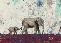 Elephant March Fine Art Print