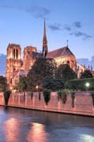 Notre Dame at Dusk Fine Art Print