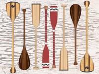 Canoe, Paddles & Oar Fine Art Print