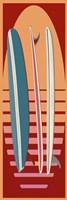 Surfboard Sunset Fine Art Print