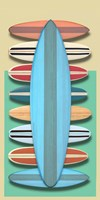 Surfboards - Red Fine Art Print