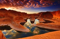 Sunset Reflection Canyon, Utah Fine Art Print