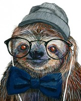 Hipster Sloth Fine Art Print