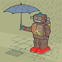 Brolly Bot Fine Art Print