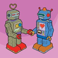 Love Bots Fine Art Print