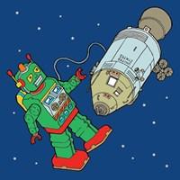 Spacebot Fine Art Print