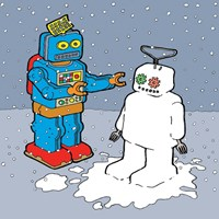 The Snow Bot Fine Art Print