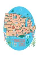 Midwestern States Fine Art Print