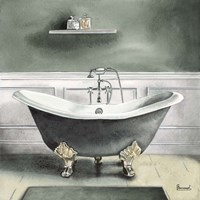 Smoky Gray Bath I Fine Art Print