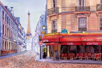 Paris Cafe w/Eiffel Fine Art Print