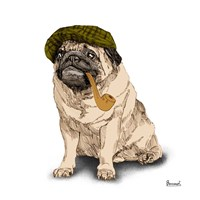 Pugs in Hats II Fine Art Print