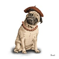 Pugs in Hats IV Fine Art Print
