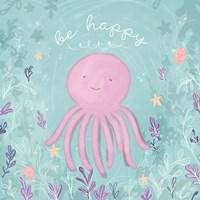 Mermaid and Octopus II Fine Art Print