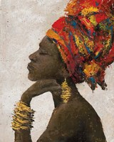 Portrait of a Woman II (gold bracelets) Fine Art Print