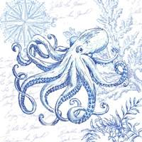 Coastal Sketchbook Octopus Fine Art Print