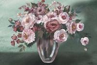 Romantic Moody Florals Landscape Fine Art Print