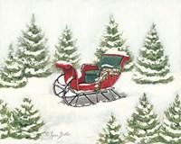 Tree Farm Sleigh Fine Art Print