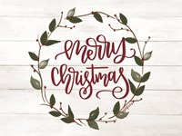Christmas Wreath Fine Art Print
