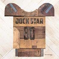 Vintage Sports Jock Star Football Fine Art Print