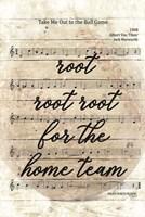 Vintage Baseball Sheet Music Fine Art Print