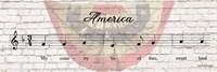 America Sheet Music Fine Art Print