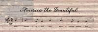 America the Beautiful Sheet Music Fine Art Print