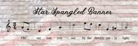 Star Spangled Banner Sheet Music Fine Art Print