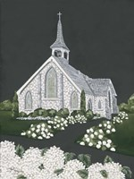 White Church Fine Art Print