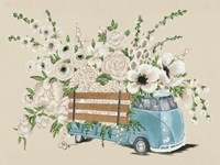 VW Bus White Fine Art Print