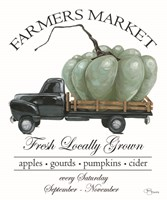 Farmers Market Truck Fine Art Print
