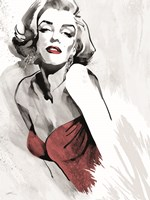 Marilyn's Pose Red Dress Fine Art Print