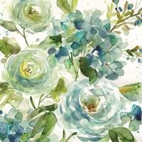 Cool Watercolor Floral Fine Art Print
