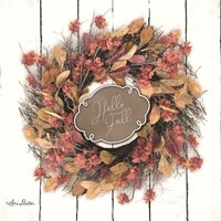 Hello Fall Wreath Fine Art Print