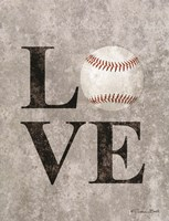 LOVE Baseball Fine Art Print