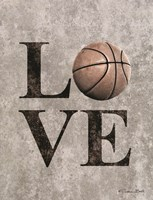 LOVE Basketball Fine Art Print