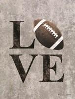 LOVE Football Framed Print