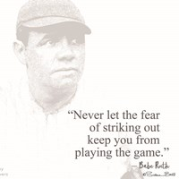 Baseball Greats - Babe Ruth Framed Print