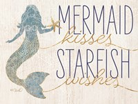 Mermaid Kisses Starfish Wishes Fine Art Print