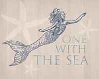 Mermaid At One with the Sea Fine Art Print