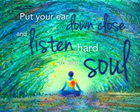 Yoga - Put Your Ear Down Close and Listen Fine Art Print