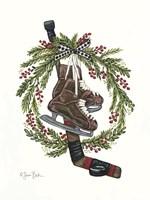 Vintage Hockey Set Fine Art Print